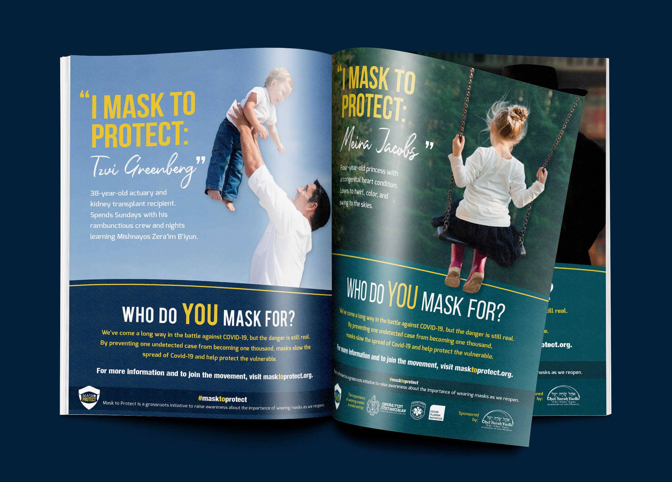 Mask to Protect Ad Campaign