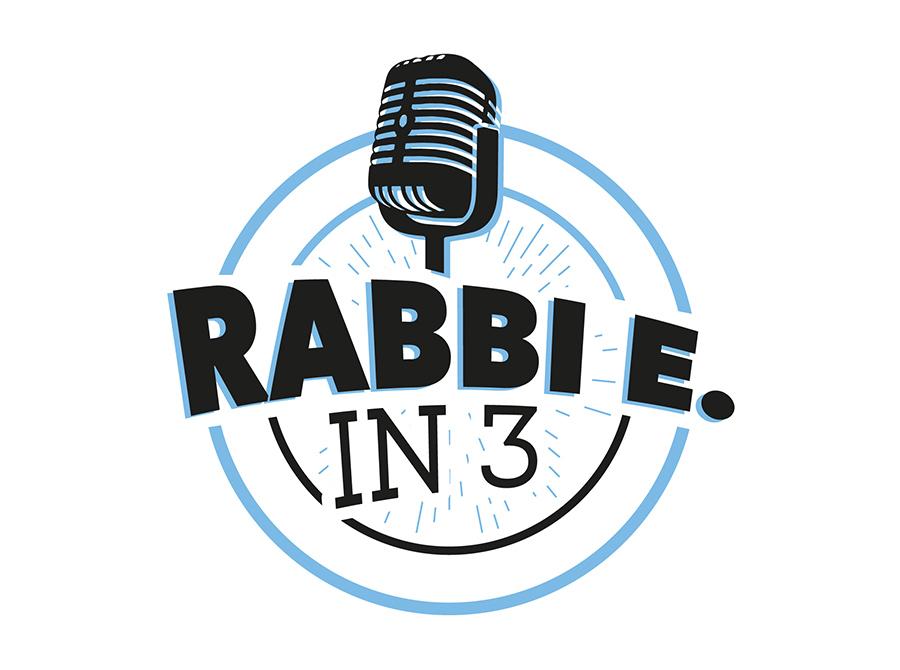 Rabbi E in 3 Logo
